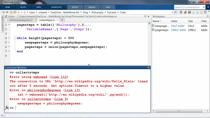 In the next video in his series on reading web pages, Matt uses a <code>try/catch</code> statement to make his code more robust.