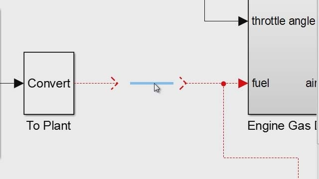 Click once to repair broken signal lines after deleting blocks using Simulink .