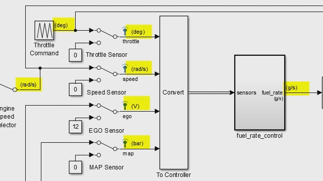 Specify, visualize, and check consistency of units on interfaces within Simulink .