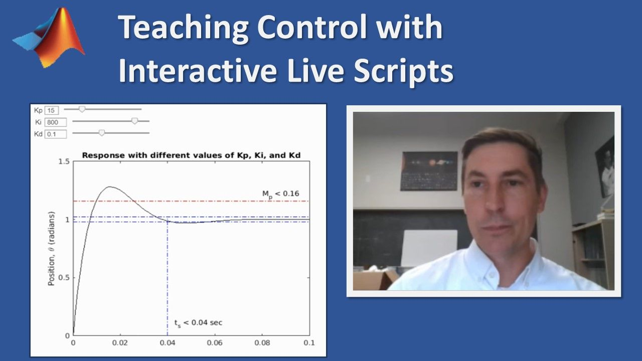 Professor Richard Hill demonstrates how to use the MATLAB Live Editor to help your instruction come alive and engage your students with interactive exercises and animations.