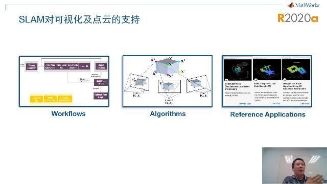 MATLAB在R2020a版本中,推出了Simulink Support Package for OpenCV的支持包;也加大了对各种嵌入式处理器的代码生成的支持,包括英伟达GPU和ARM Mali GPU,以及ARM多核处理器的代码自动生成;还推出了对于巨幅图像的导入、多尺寸目标标注、非平衡目标训练和检测;SLAM:新版本提供了对视觉SLAM和Lidar SLAM的全面支持。