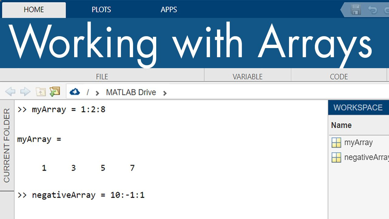 Create and manipulate MATLAB arrays, including accessing elements using indexing.